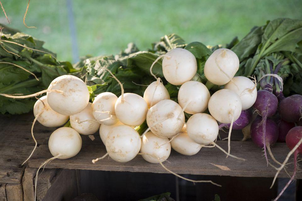 White radishes