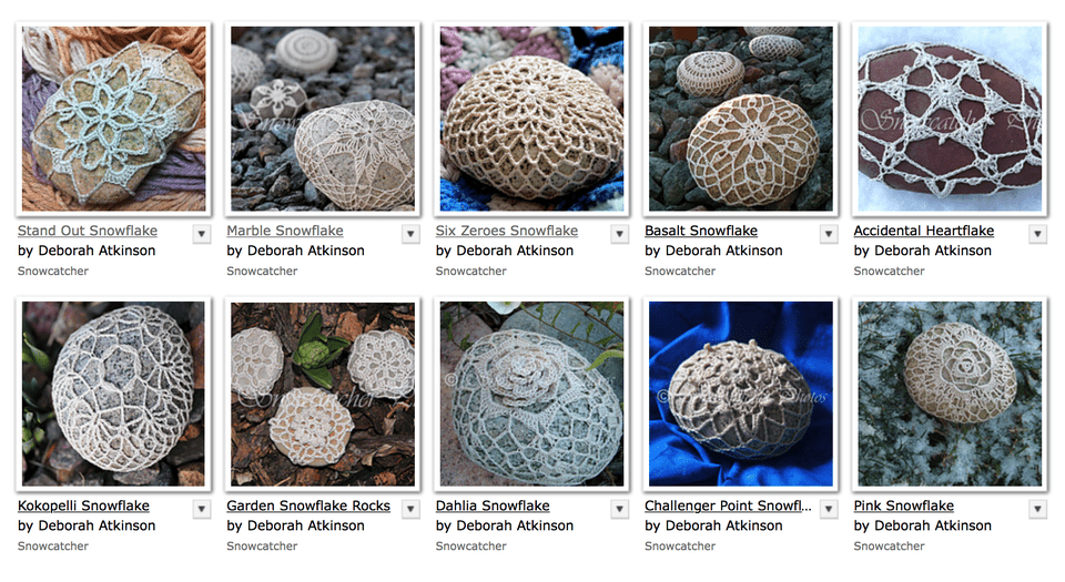 Crochet River Rocks - FREE Patterns
