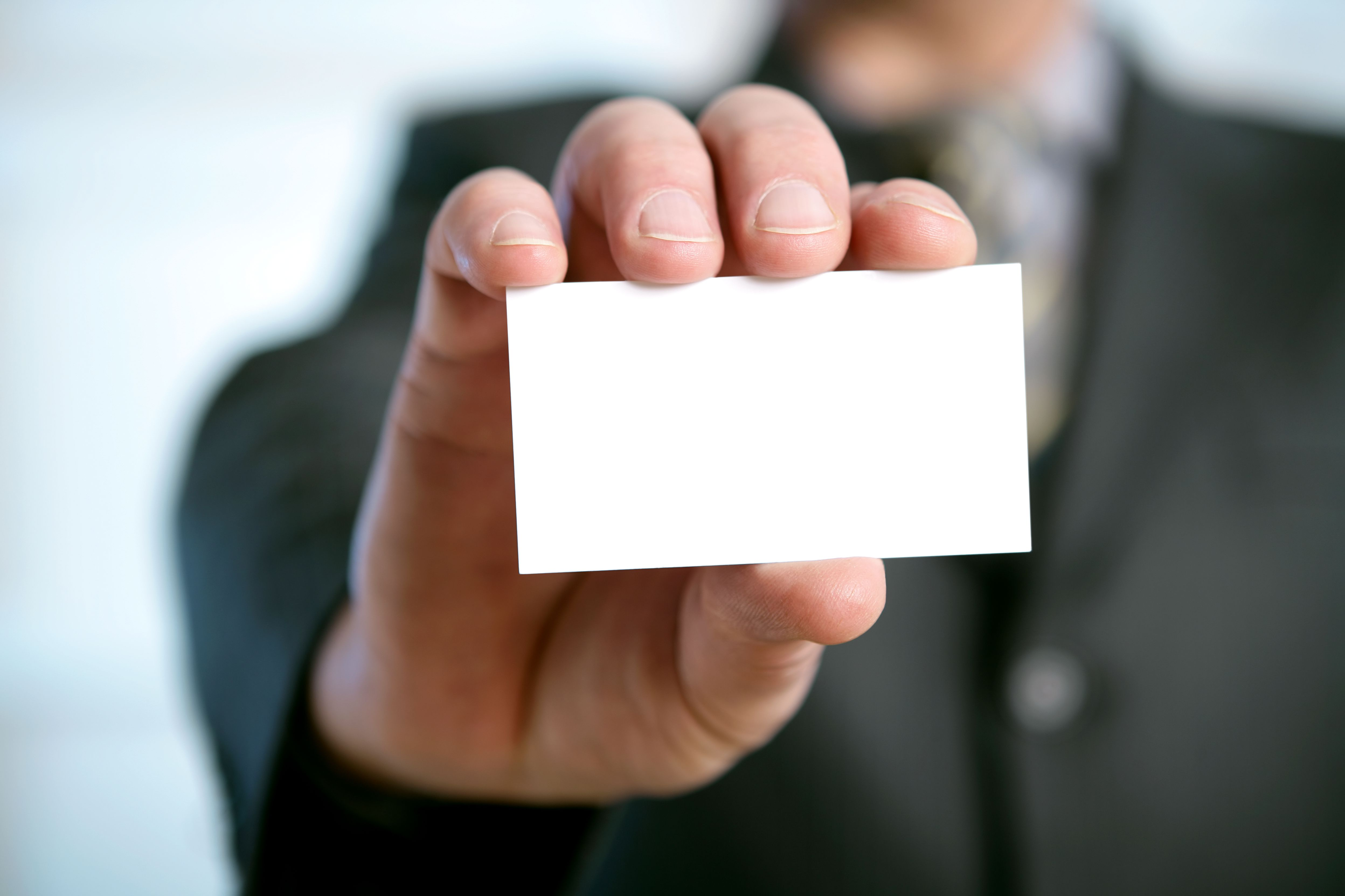 Learn why branding is important in marketing blank business card in a hand magicingreecefo Images