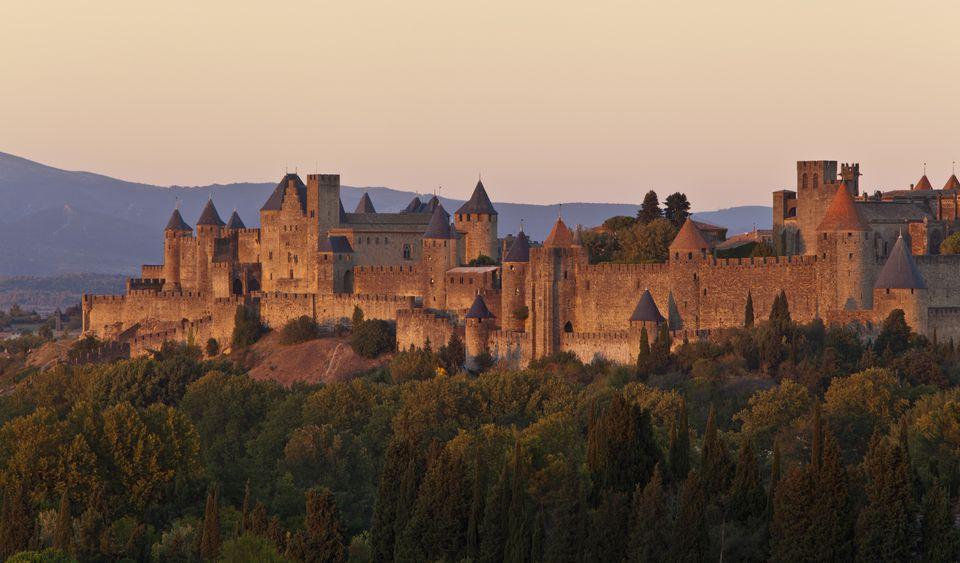 Carcassonne at dusk