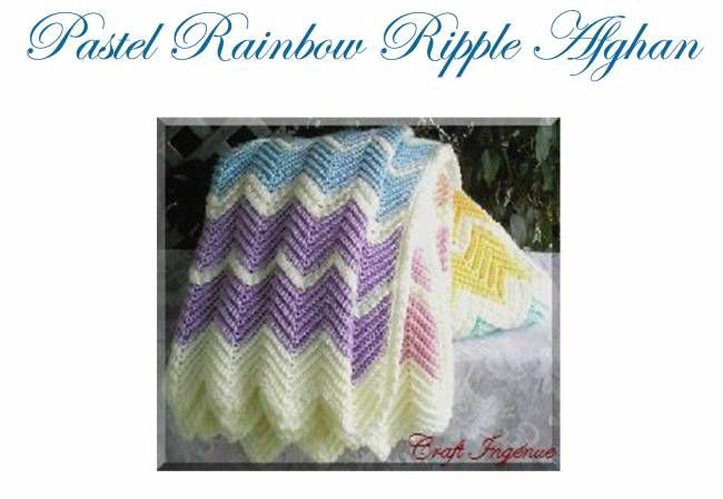 Free Exaggerated Ripple Crochet Afghan Pattern
