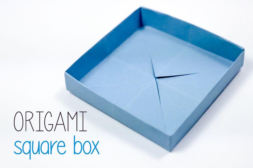 origami square box instructions