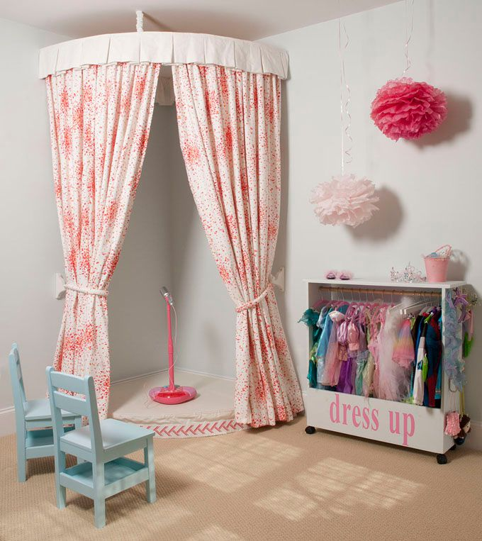 Girl s room with curtained costume corner and stage. 21  Dream Bedroom  Ideas for Girls