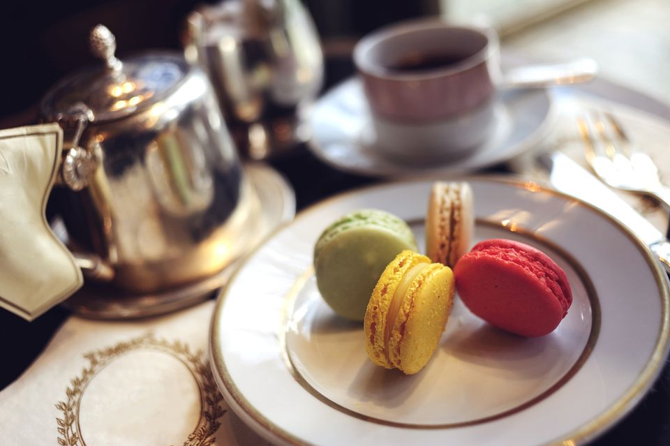 The Ladurée salon du thé in Paris is one favorite spot for afternoon tea.