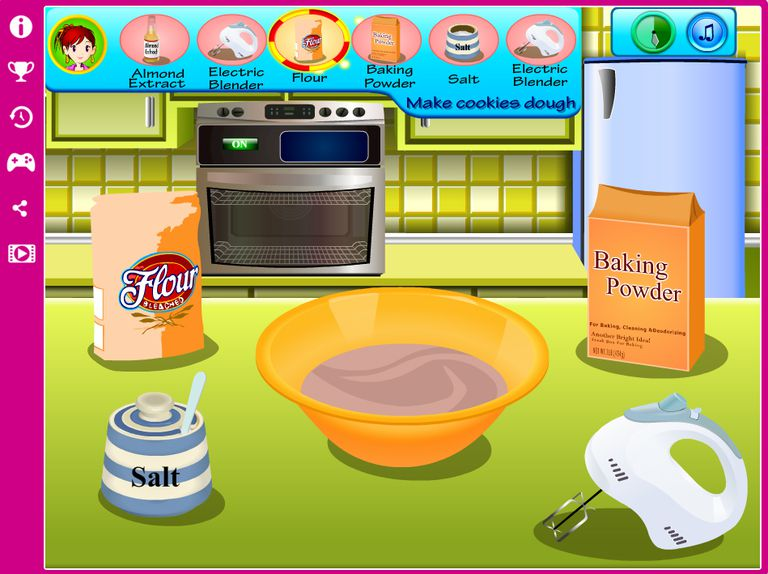 A sceenshot of Sara's Cooking Class: Easter Sugar Cookies cooking game.