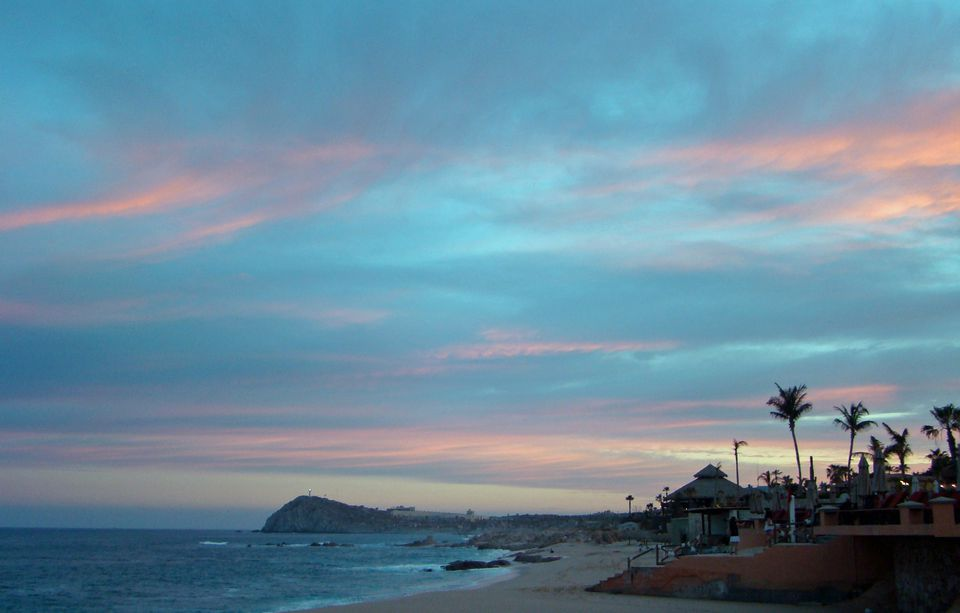 Dusk along the Sea of Cortez near Cabo San Lucas, Mexico.