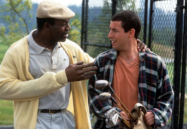 Carl Weathers And Adam Sandler In 'Happy Gilmore'