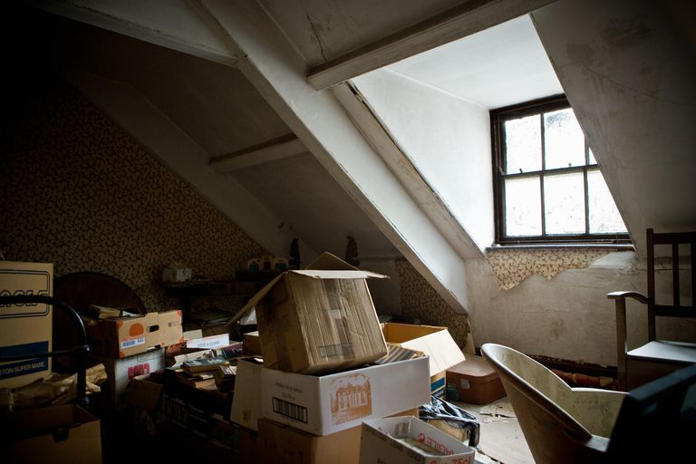House attic filled with old items