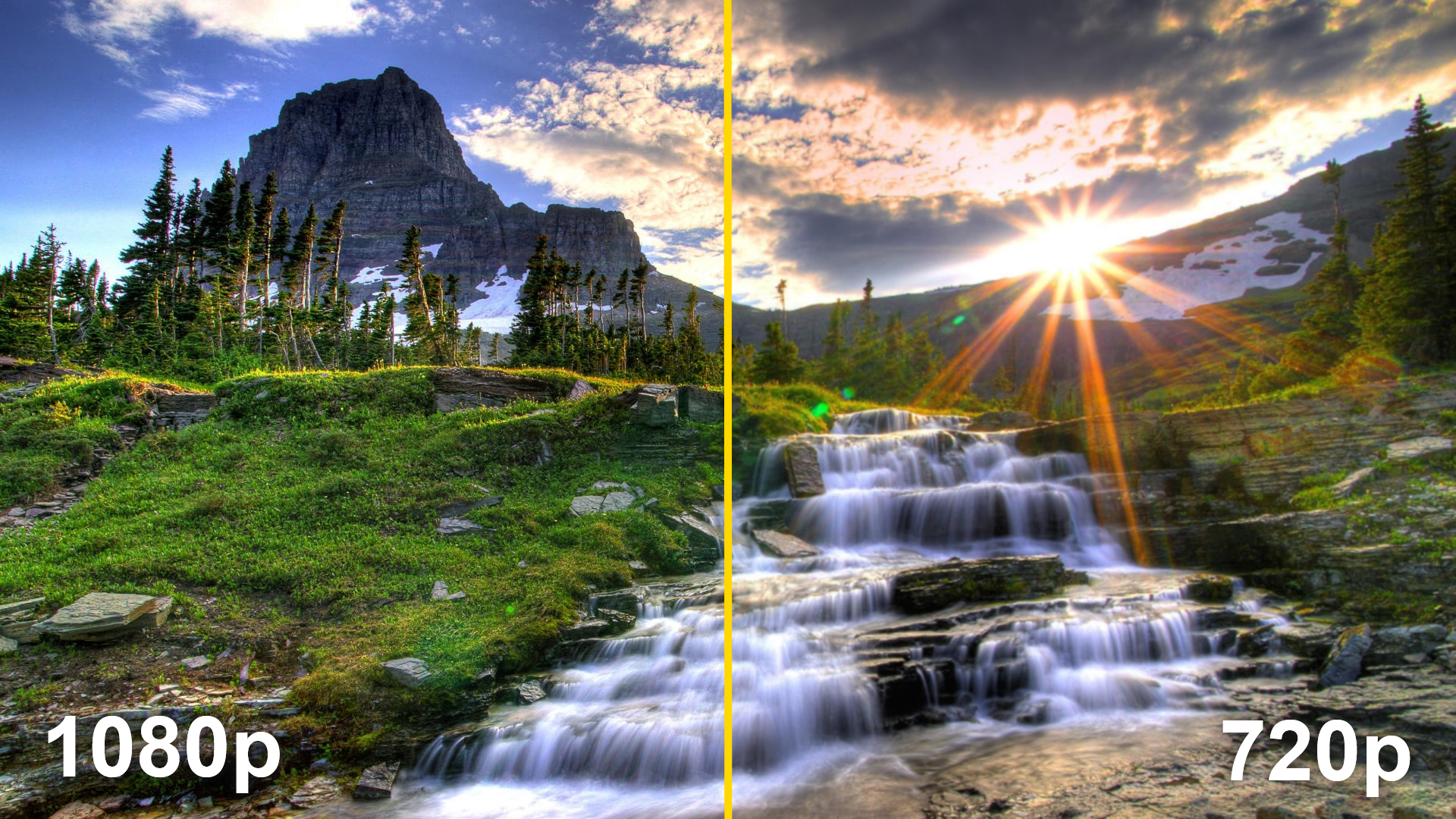 An example of the clarity difference that appears between 720p and 1080p.