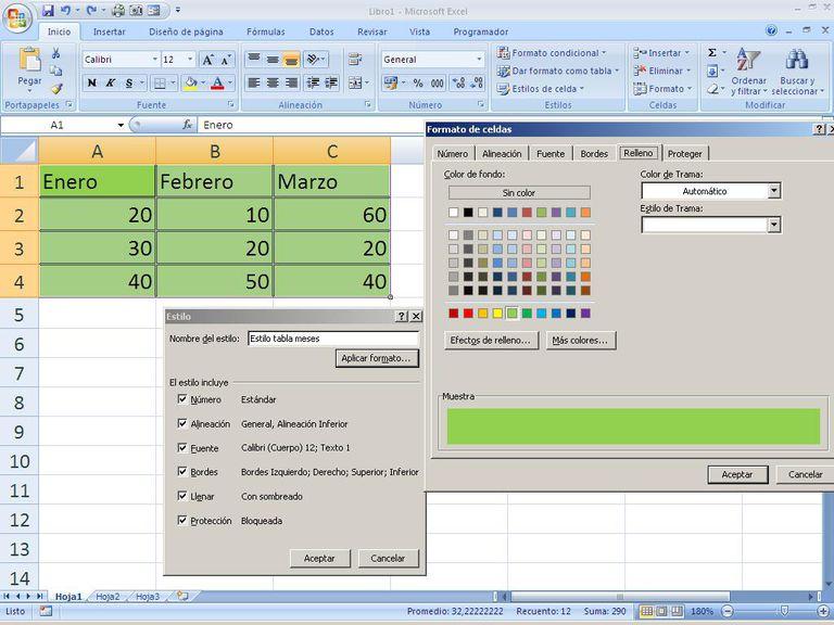 Empieza a trabajar en las celdas de las hojas Excel