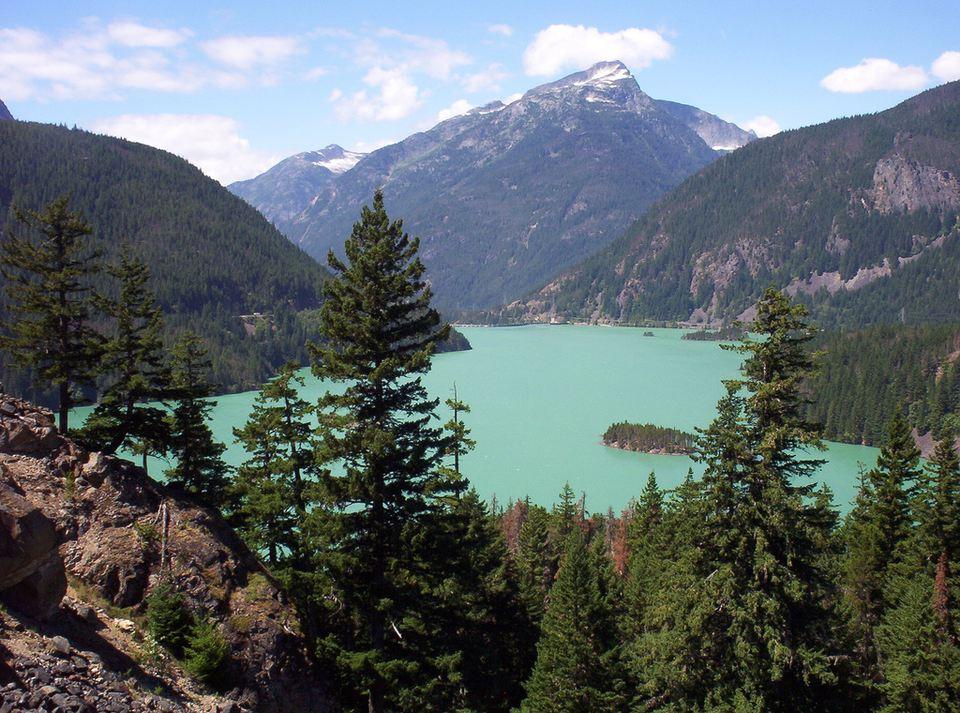 Lake Diablo in North Cascades National Park, Washington