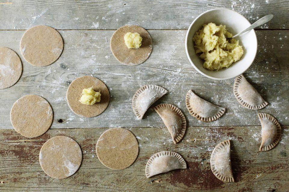 Pierogi dough and filling