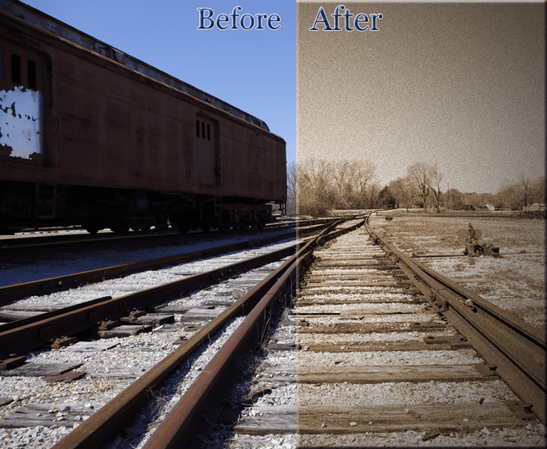 Sepia Tint Before and After