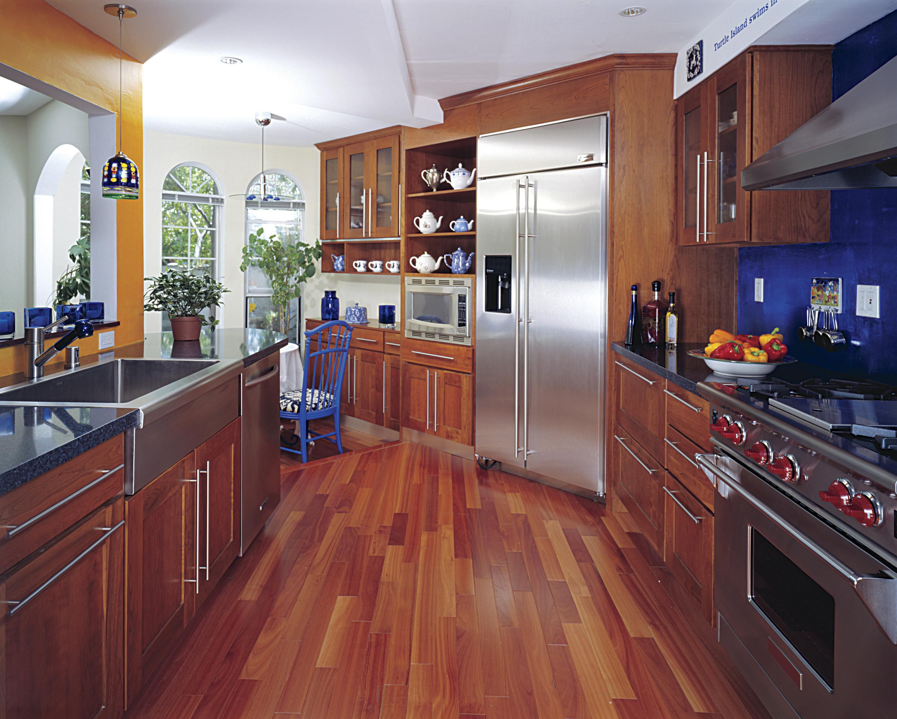 hardwood floor in a kitchen recommended or a bad idea - Laminate Kitchen Flooring