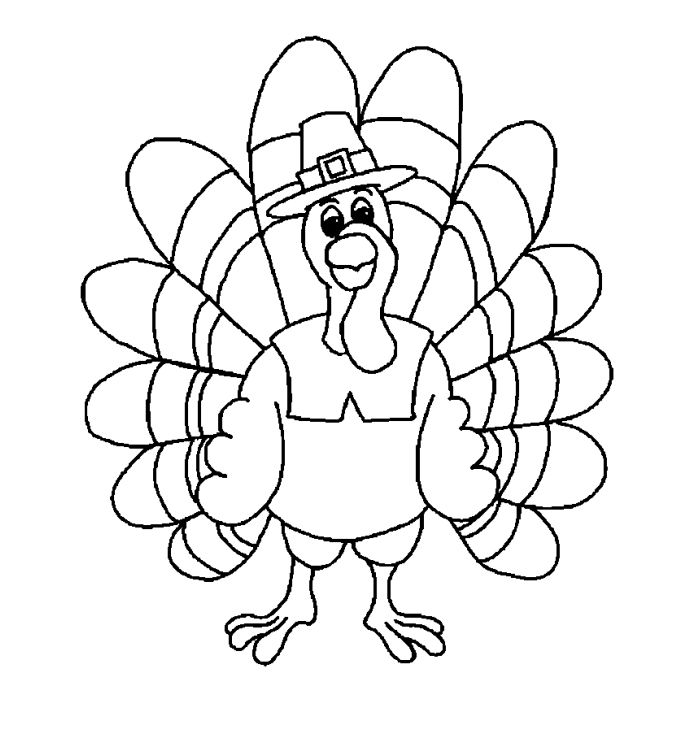 Coloring Printable A Turkey Dressed Up Like Pilgrim