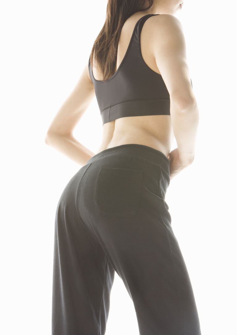 Woman in workout pants