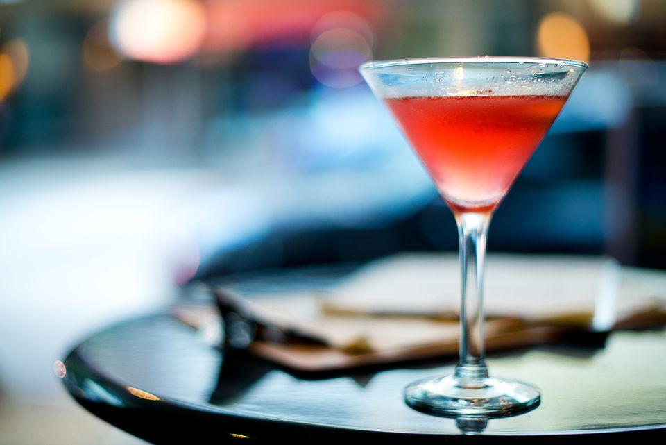 PAMA Ginger-tini - Easy Vodka Pomegranate Martini