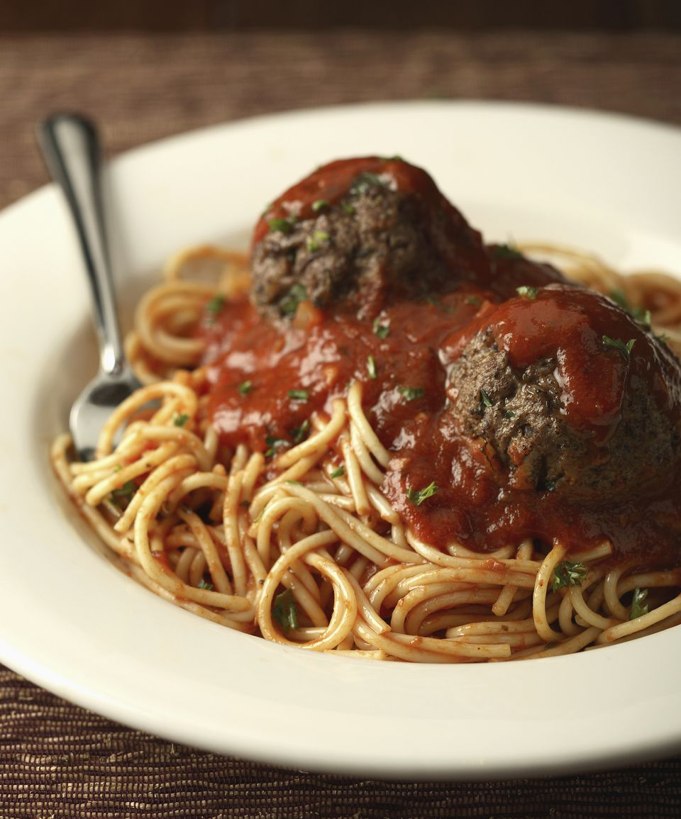 Low fat spaghetti and meatballs