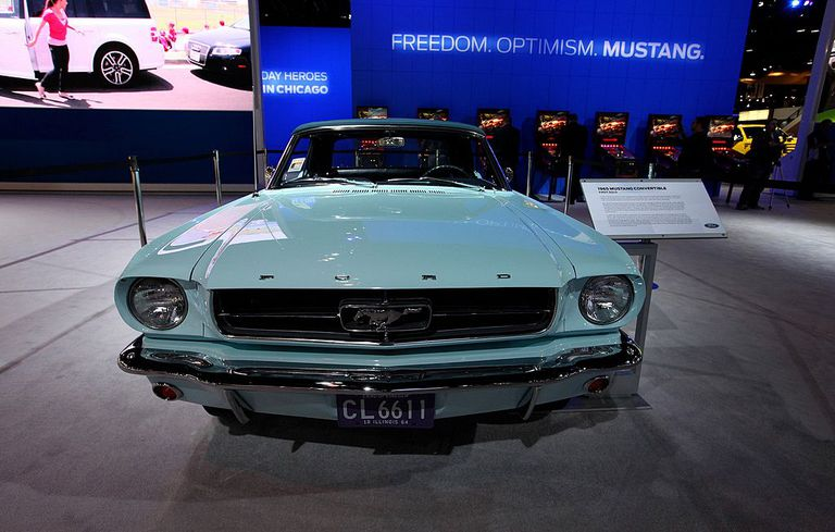 1965 Mustang at Auto Show