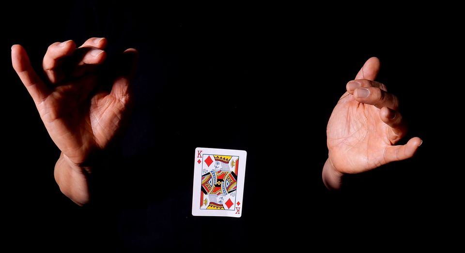 Levitating a Playing Card