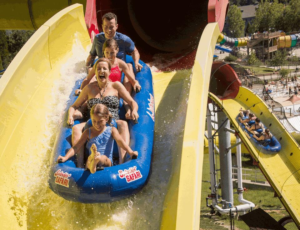 Uphill water coaster
