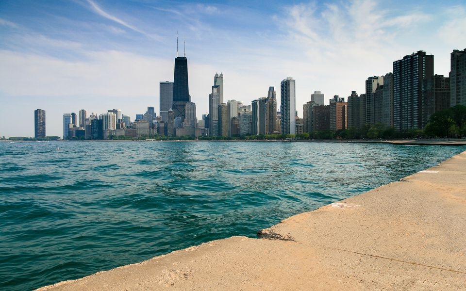 City skyline, Chicago, Illinois, America, USA