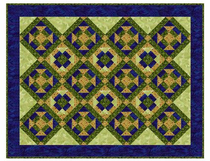 20 Easy Quilt Patterns for Beginning Quilters : two fabric quilts - Adamdwight.com