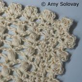 Scalloped Puff Stitch Border / Edging -- Free Crochet Pattern