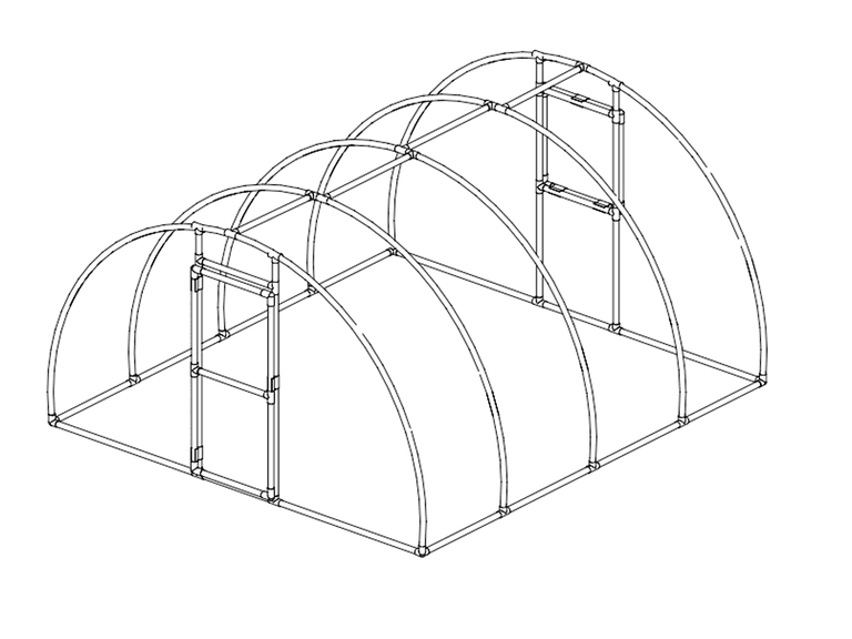 arched pvc greenhouse plan by pvc plans