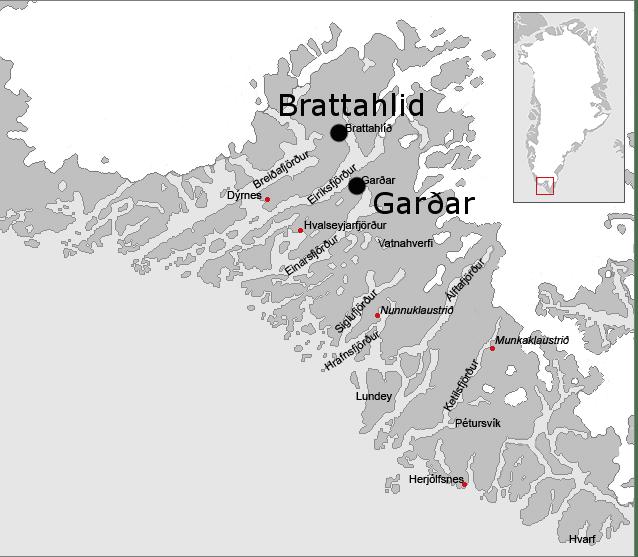 Garðar and Brattahild, Eastern Settlement, Greenland
