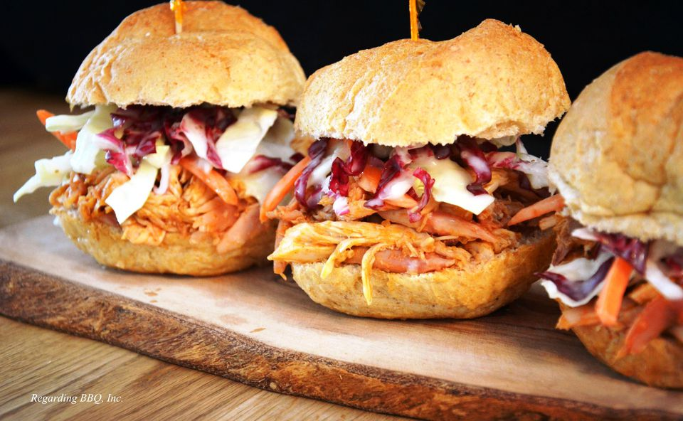 Pulled Chicken BBQ Sandwiches