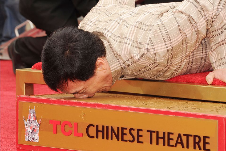 Actor Jackie Chan at the Chinese Theater