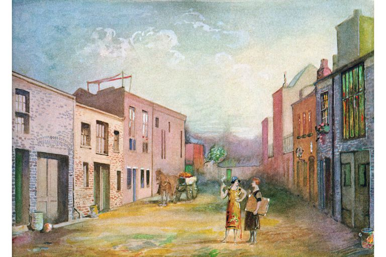 Artists in Macdougall Alley, Greenwich Village: print, 1910