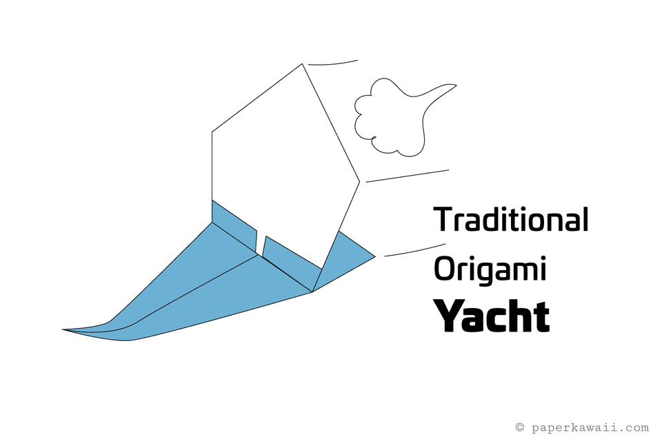 easy origami yacht tutorial 01