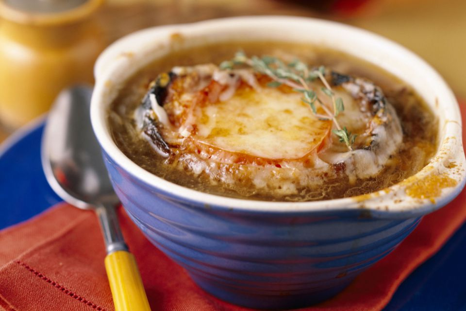 Onion Soup with Cheese
