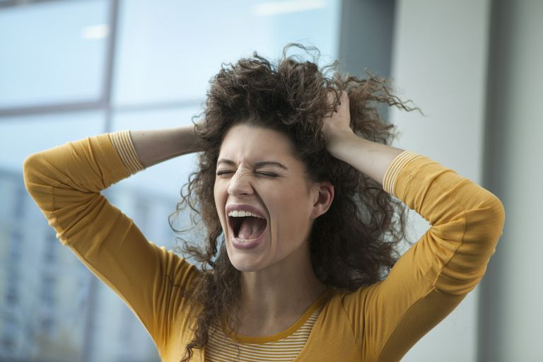 Frustrated woman.