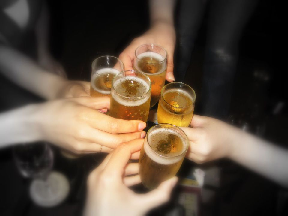A common superstition in Spain is that you have to meet eyes with your drinking buddies