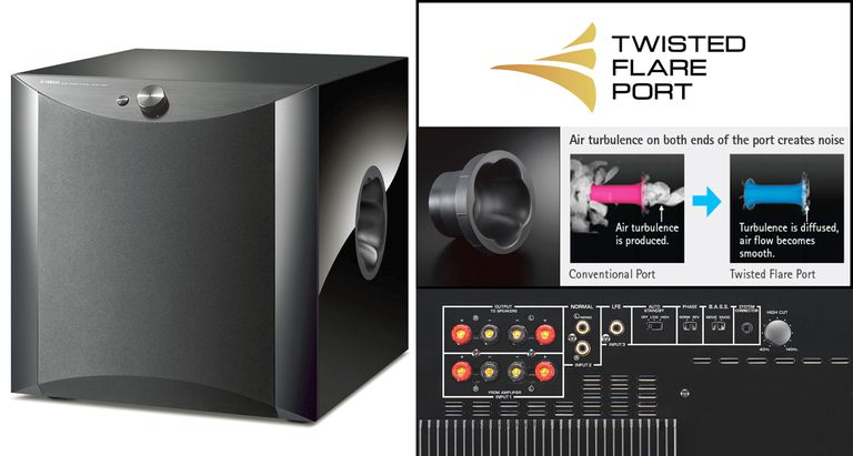 Yamaha NS-SW1000 Subwoofer With Twisted Flare Port