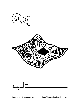 Print The Pdf Quilt Coloring Page And Color Picture