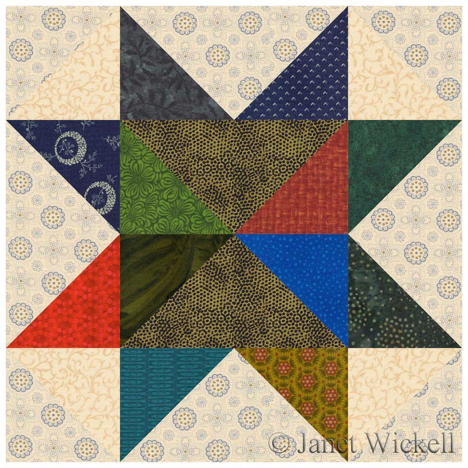 Scrap Quilt Block Pattern