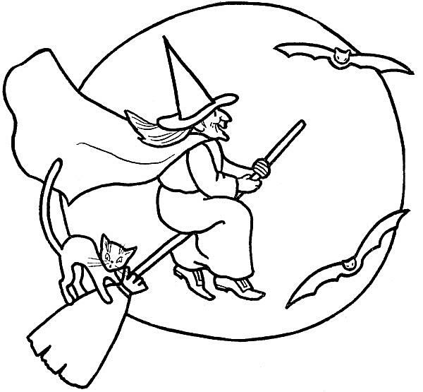 Free halloween coloring pages for kids for Halloween pictures to colour in