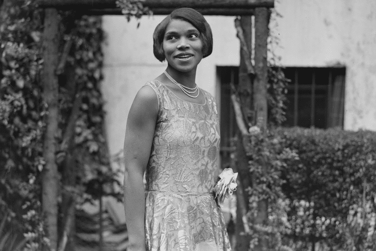 Marian Anderson at home in 1928
