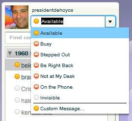 Yahoo Messenger Web Availability Settings