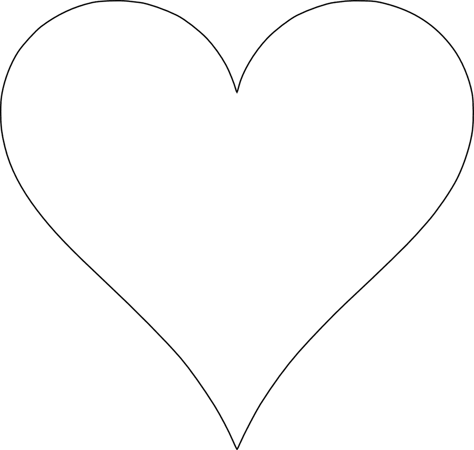 6 Free Printable Heart Templates