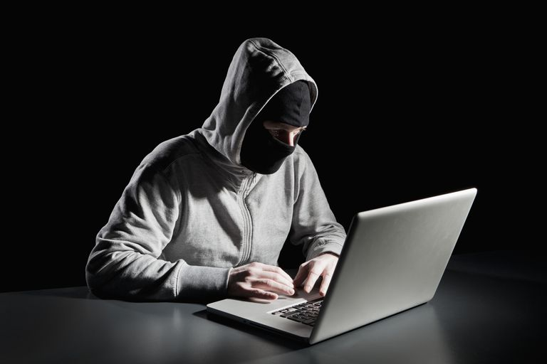 Hacker at a laptop