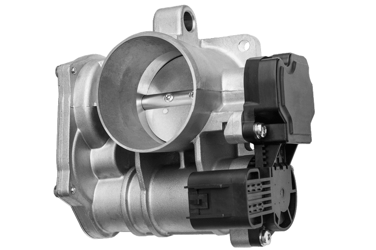 typical electronic throttle body with stepper motors and throttle position sensor