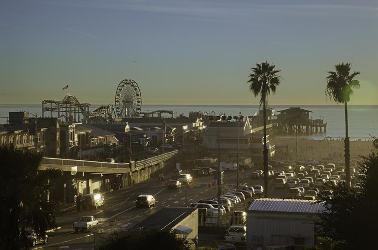 Santa Monica waterfront and pier, overview