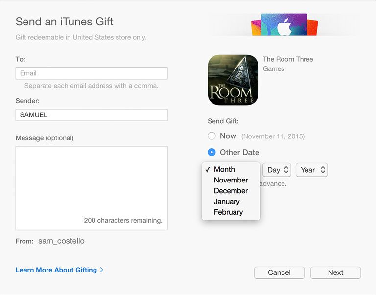 gift iphone apps