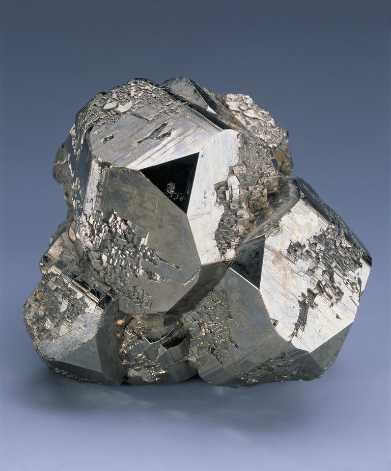 When you melt a mixture of iron and sulfur, you get iron sulfide, which can form pyrite crystals.