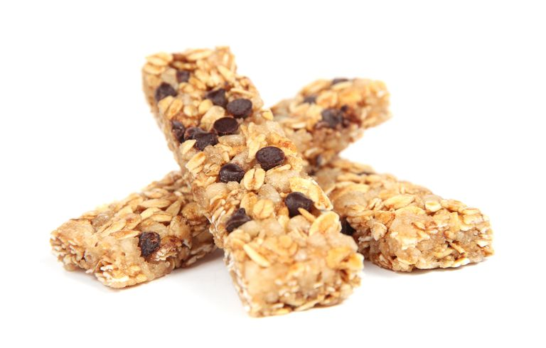 Granola Bars on White Background